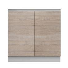 Skříňka dolní dvoudveřová dřezová 80, dub sonoma, LINE