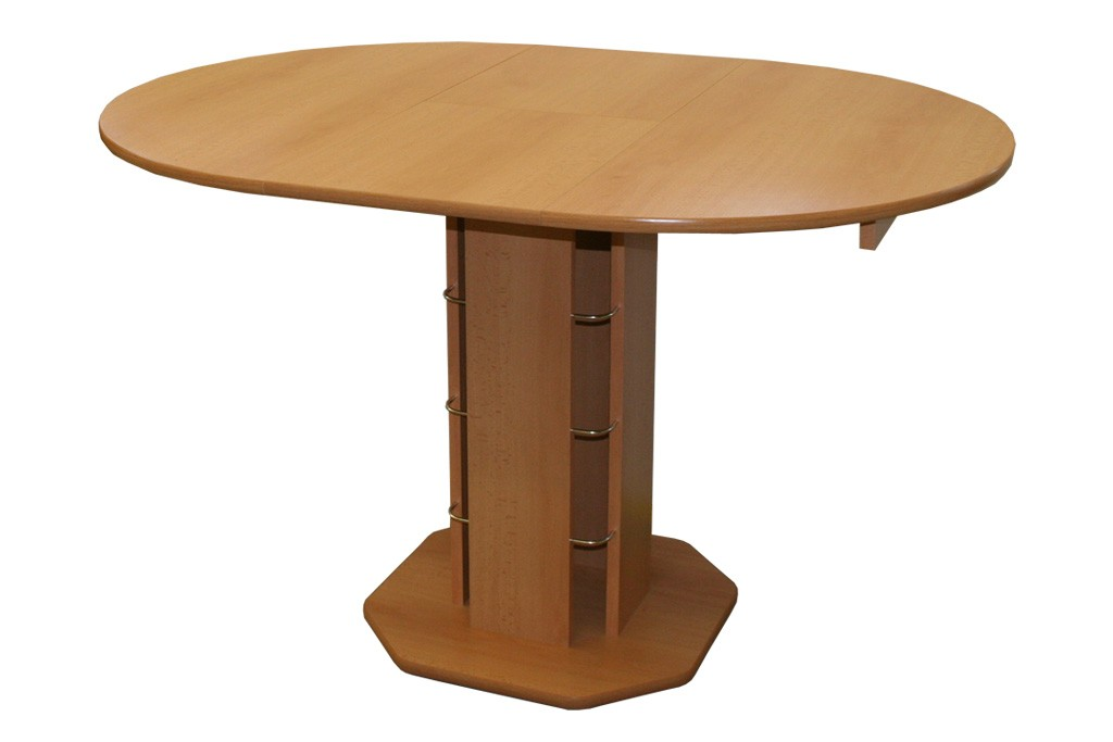 Rozkládací kulatý jídelní stůl S07 Tadeáš 90-126 cm