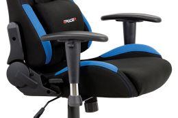 Kancelářská židle KA-F02 BLUE látka černá/modrá