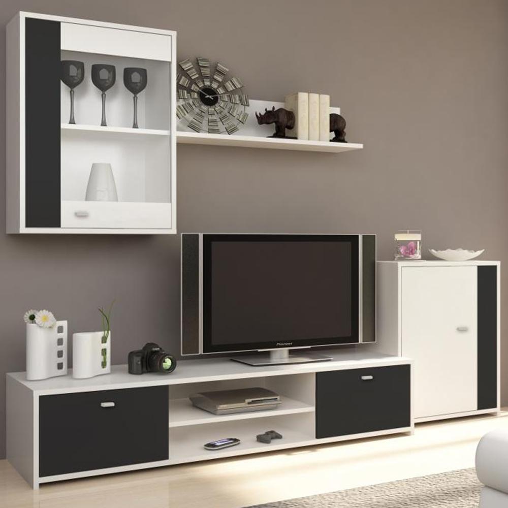 Obývací stěna GENTA bílá/černá