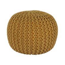 Pletený taburet GOBI 2 bavlna hořčicová