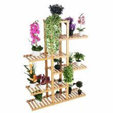Regál TUSUM stojan na květiny, bambus lakovaný