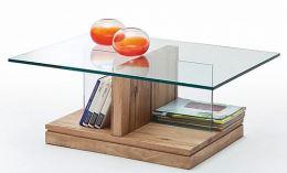 Konferenční stůl LENNART dub masiv a sklo