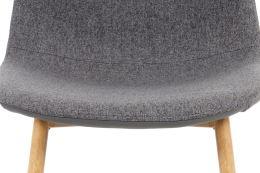 Jídelní židle CT-391 GREY2 látka a ekokůže šedá, kov dub