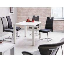 Jídelní stůl ASPER 120x80 cm, HG vysoký lesk bílý
