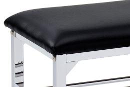 Botník 83169 CR chrom, koženka černá