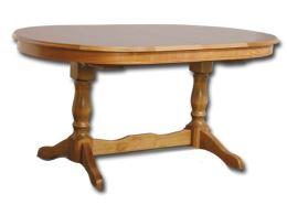 Rustikální rozkládací jídelní stůl PARIS 140-220x90 cm