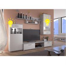 LED osvětlení k obývací stěně BREAK
