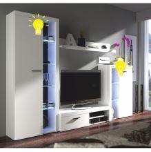 LED osvětlení bílé k obývací stěně ROCHESTER