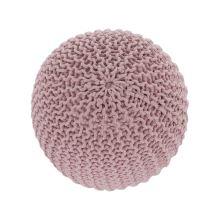 Pletený taburet GOBI 2 bavlna pudrová růžová