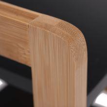 4-poličkový regál NAOKO bambus přírodní lakovaný, MDF černá barva