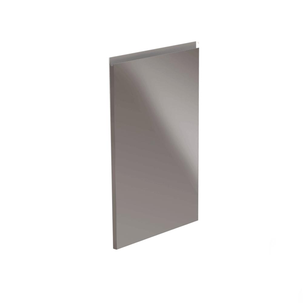 Dvířka na myčku, bílá / šedá extra vysoký lesk HG, 59,6x571,3, AURORA