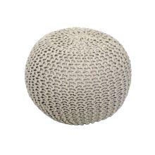 Pletený taburet GOBI 1 bavlna krémová