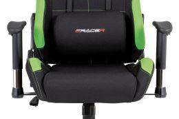 Kancelářská židle KA-F02 GRN látka černá/zelená