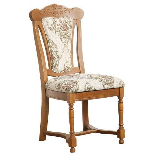Rustikální jídelní židle RHEINE látka Benedeto