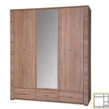 Skříň se zrcadlem typ 2, dub sonoma, GRAND