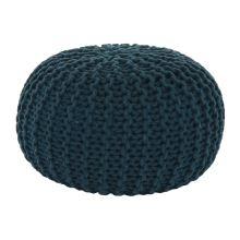 Pletený taburet GOBI 2 bavlna petrolejová