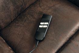 Elektricky polohovatelné relax křeslo TV-5076 BR3 látka hnědá