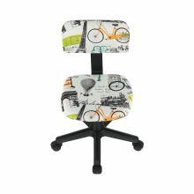 Dětská otočná židle, látka vzor, KIDS