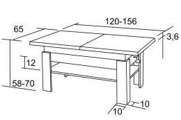 Konferenční stolek K36 Radim