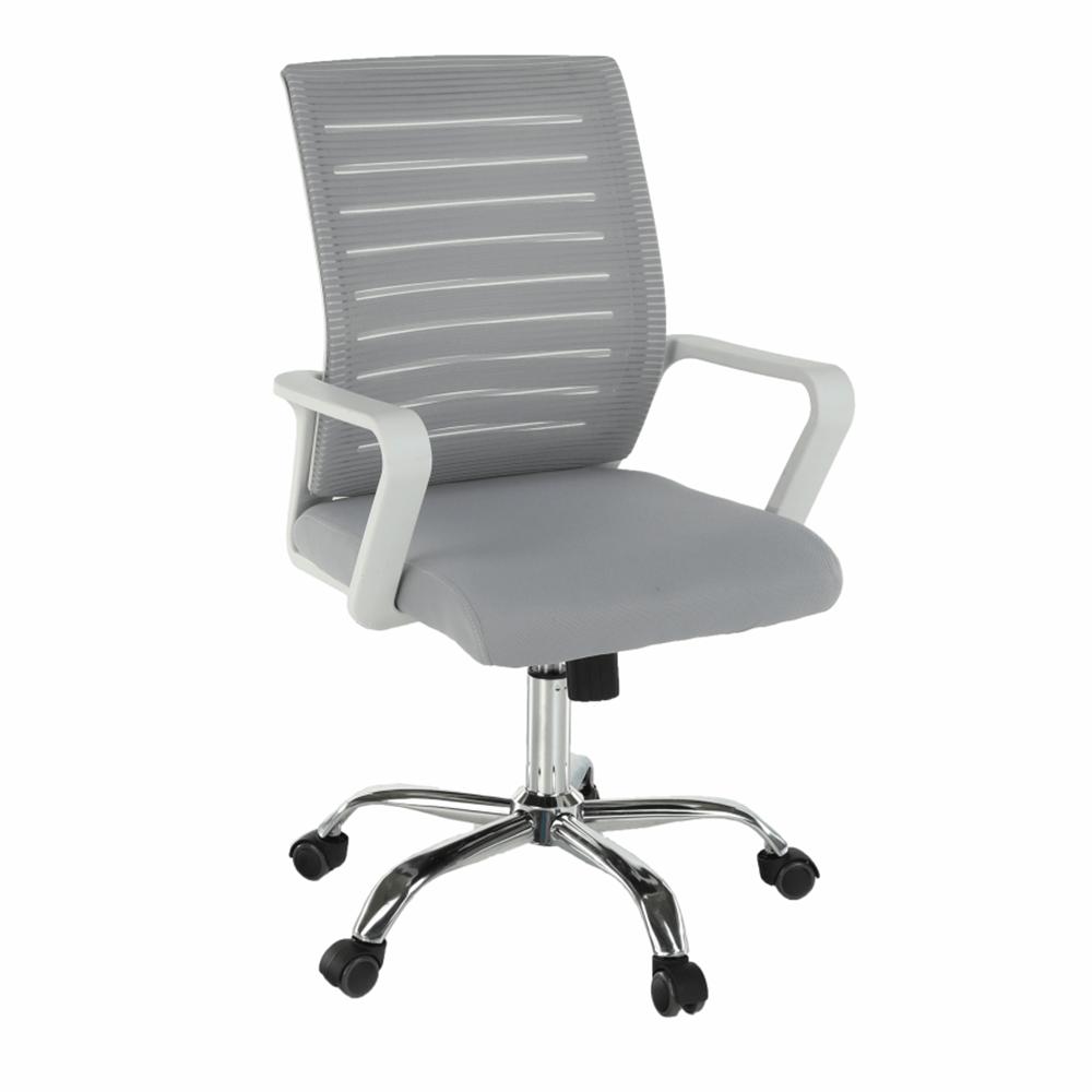 Kancelářská židle, bílá/šedá, CAGE