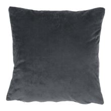 Polštář, sametová látka tmavě šedá, 60x60, Olaja TYP 8