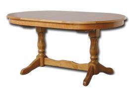 Rustikální rozkládací jídelní stůl EVROPA 160-280x100 cm