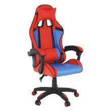 Kancelářské herní křeslo SPIDEX ekokůže modrá a červená