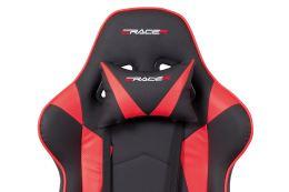Kancelářská židle KA-F03 RED ekokůže červená a černá