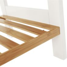 Regál, přírodní bambus / bílá, ERAVA TYP1