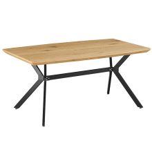 Jídelní stůl MEDITER 160x90 cm, dezén dub, kov černý