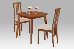 Jídelní židle BC-2482 TR3 masiv buk, barva třešeň, látka béžová