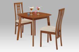 Jídelní židle BC-2482 TR3 masiv buk, barva třešeň, látka krémová